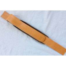 Melodeon Bass Strap with Velcro Adjustment Tan Padded