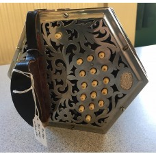 Lachenal 32 Key Anglo Concertina in GC Metal Ends Bone Buttons
