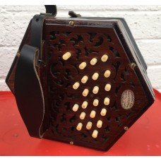Lachanal GC Anglo Concertina 40 key Darkwood Ends