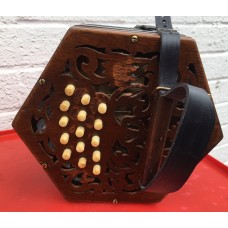 Jones 30 Key Lightwood Anglo Concertina in GC with Steel Reeds