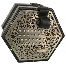Lachenal New Model 56 Key English Concertina Fully Restored Vintage Concertina with Metal Buttons and Steel Reeds Extended treble