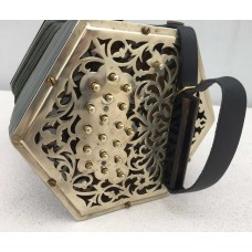 38 Key Metal End Anglo Concertina CG unknown make a Jefferies Copy