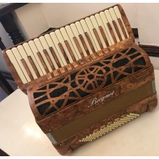 Bugari 151  Xoana 4 voice Olive Ash Burr Wood Piano Accordion