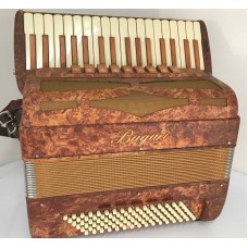 Bugari Xoana Burr Elm 4 voice 96 Bass Piano Accordion made in Italy