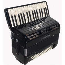 Bugari Championfisa Piano Accordion 148SE 3 voice 34 key 96 Bass with Hand Made Reeds A Compact Piano Accordion