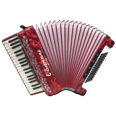 E Soprani 37 key 4 Voice treble and 4 Voice  96 Bass  MUSETTE Piano Accordion USED