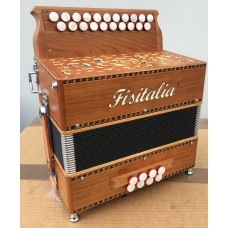 Fisitalia Morris II Bb Eb 2 voice melodeon
