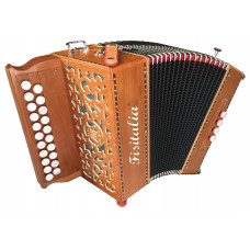 The Morris II DG Melodeon by Fisitalia with hand made reeds