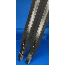 Extra Long Accordion Shoulder Straps 45mm wide padding Black Leather and Velvet