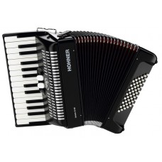 Hohner Bravo II 48 Bass Black Silent Key Piano Accordion