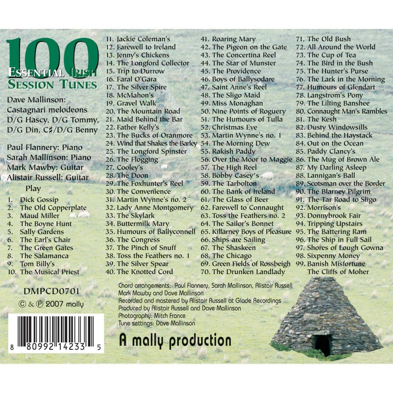 100 Essential Irish Session Tunes Sheet Music Book /& Chords Melody Instruments