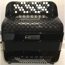 Pigini Convertor 37 B3 Continental Chromatic Button Accordion with Free Bass Convertor