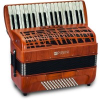 Pigini Preludio P36/3 Cherrywood Piano Accordion 3 Voice 72 Bass with Hand Made Reeds