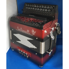 Saltarelle Inferno DG melodeon with Microvox included USED