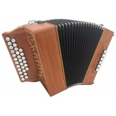 2 voice 2.5 Row Melodeon with 12 Bass in DG Sandpiper style with Czech Republic Reeds 6 buttons on the 1/2 row USED