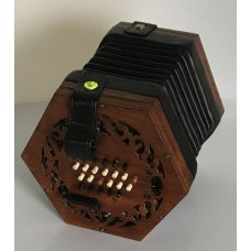 Lachenal 48Key Tutor English Concertina, Light Wood Ends, Bone Buttons, Brass Reeds