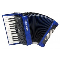 Hohner Bravo II 48 Bass Blue Silent Key Piano Accordion