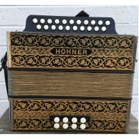 German Manufactured Hohner Pokerwork DG Melodeon