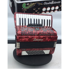 Luciano 30 Key 60 Bass 3 Voice Piano Accordion Used